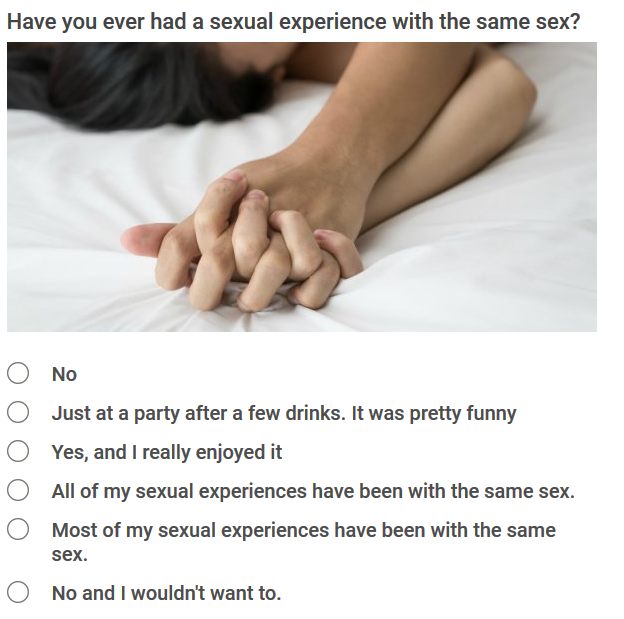 Bisexual test to know you are lesbian, gay, bisexual or straight.